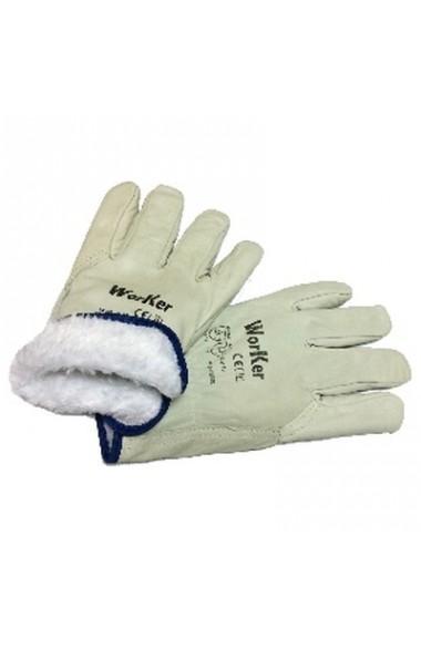 Перчатки кожаные WorKer утепленные Арт.2220